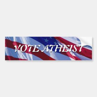 Vote Atheist Bumper Sticker