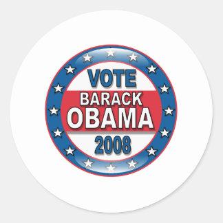 Vote Barack Obama 2008 Round Sticker
