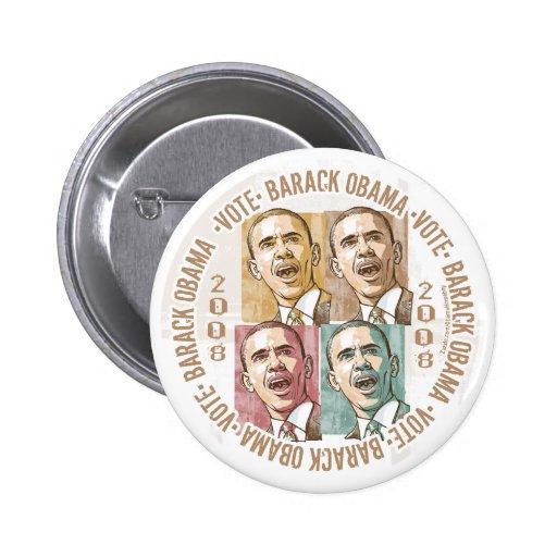 Vote Barack Obama Image  Button