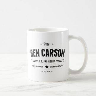 Vote Ben Carson 2016 Basic White Mug