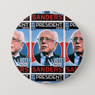 Vote Bernie Sanders Nov. 8, 2016 3 Inch Round Button