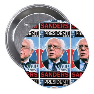 Vote Bernie Sanders Nov. 8, 2016 3 Inch Round Button