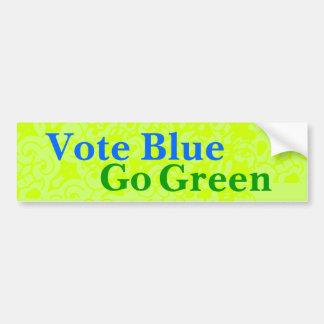 Vote Blue Go Green Bumper Sticker