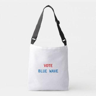 VOTE BLUE WAVE OVER THE SHOULDER TOTE BAG
