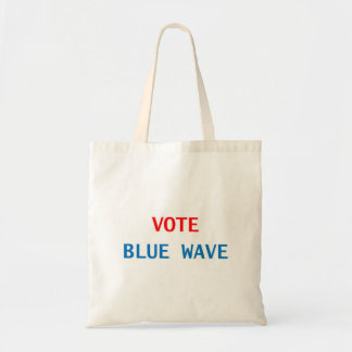 vote blue wave tote bag