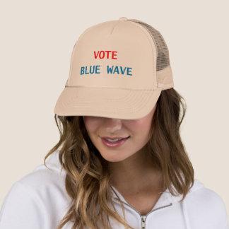 VOTE BLUE WAVE TRUCKER HAT BEIGE
