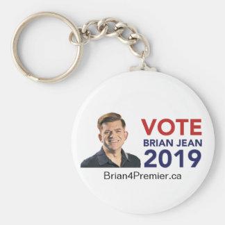 Vote Brian Jean Round Keychain