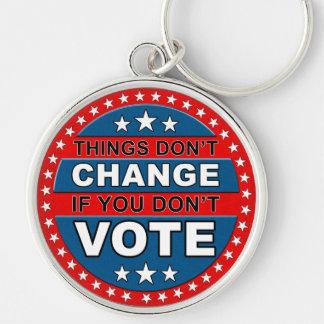 Vote Button Keychain