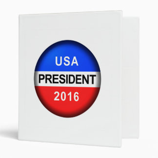 Vote Button President 3 Ring Binders