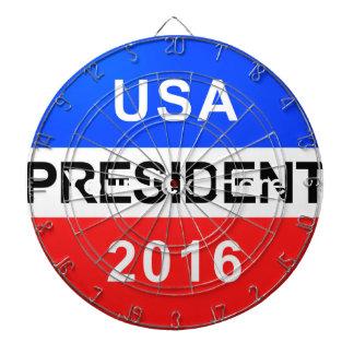 Vote Button President Dartboard