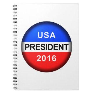 Vote Button President Notebook