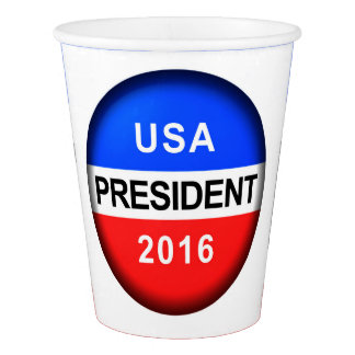 Vote Button President Paper Cup