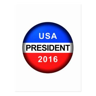 Vote Button President Postcard
