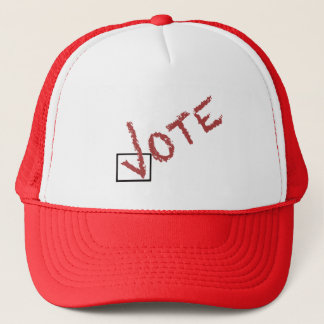 vote check mark trucker hat