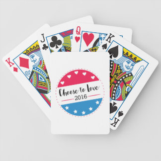 Vote Choose to Love Bicycle Playing Cards