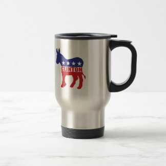 Vote Clinton Democrat Travel Mug