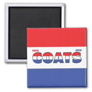 Vote Coats 2010 Elections Red White and Blue Square Magnet