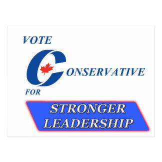 Vote Conservative for Stronger Leadership Postcard