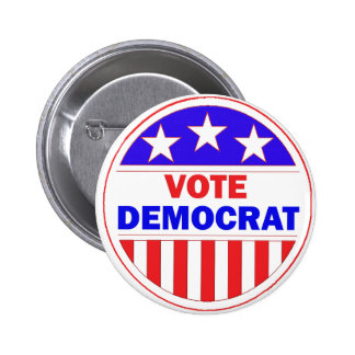 Vote Democrat 2 Inch Round Button