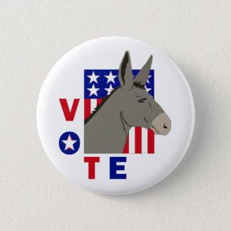 VOTE DEMOCRAT DONKEY 2 INCH ROUND BUTTON
