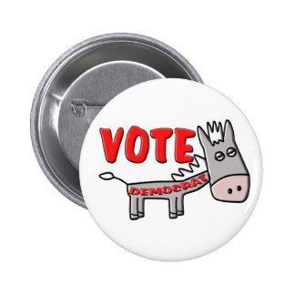 VOTE DEMOCRAT (Donkey) Buttons