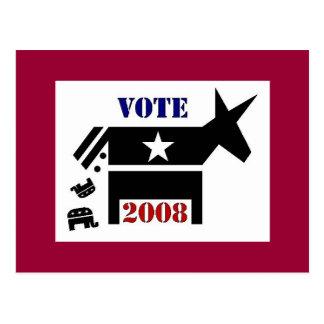 VOTE DEMOCRAT IN 2008 POSTCARD