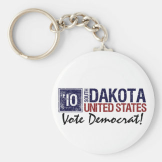 Vote Democrat in 2010 – Vintage South Dakota Basic Round Button Keychain