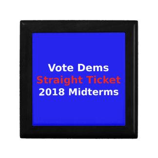Vote Democrat In 2018 Midterm Elections Gift Box