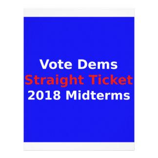 Vote Democrat In 2018 Midterm Elections Letterhead