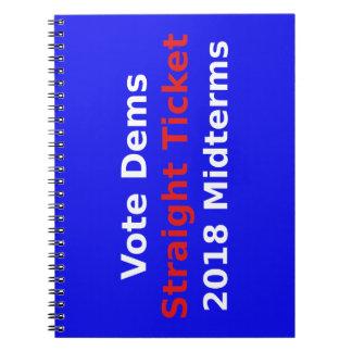 Vote Democrat In 2018 Midterm Elections Notebook