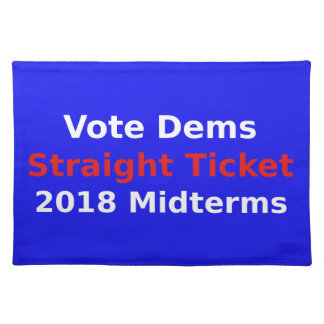 Vote Democrat In 2018 Midterm Elections Placemat