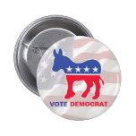 Vote Democrat With Donkey 2 Inch Round Button