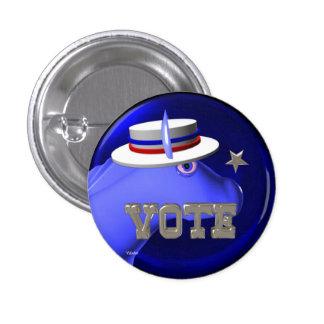 Vote Democratic  donkey Button