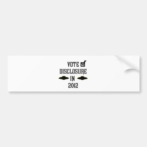Vote Disclosure in 2012 Bumper Stickers
