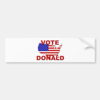 Vote Donald Bumper Sticker