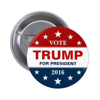 Vote Donald Trump pour le président 2016 campagne Macaron Rond 5 Cm