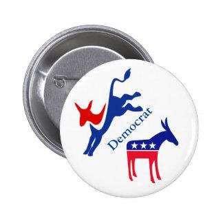 Vote Election Democrat Stars Stripes USA 2 Inch Round Button