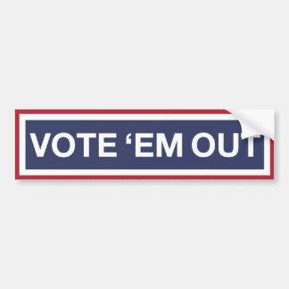 Vote 'em Out! Vote out the GOP! Resist Trump! Bumper Sticker
