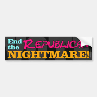 VOTE! End The Republican Nightmare Bumper Sticker