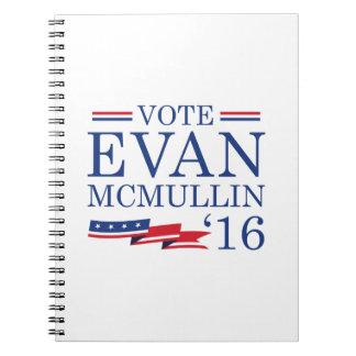 Vote Evan McMullin 2016 Spiral Note Books