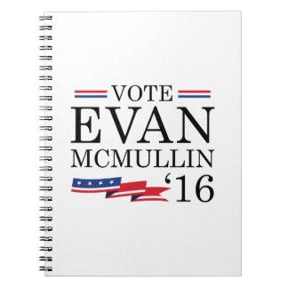 Vote Evan McMullin 2016 Spiral Notebooks