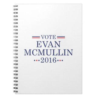 Vote Evan McMullin Spiral Notebook