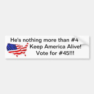 Vote for #45 bumper sticker