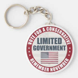Vote For A Conservative Basic Round Button Keychain