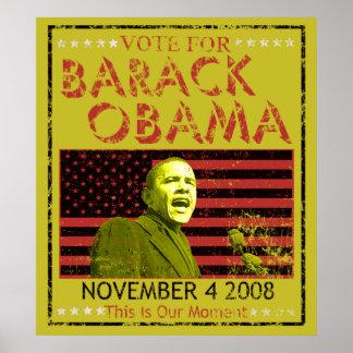 Vote for Barack Obama Posters