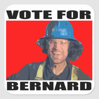 Vote for Bernard Square Sticker