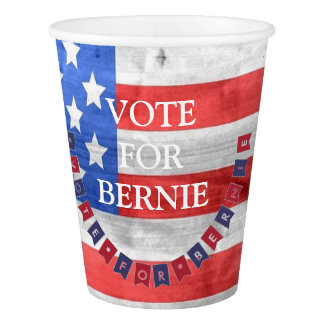 Vote for Bernie Sanders Democrat American Flag Paper Cup