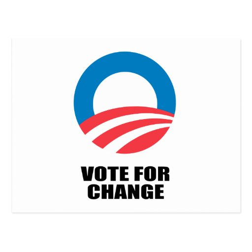VOTE FOR CHANGE POST CARD