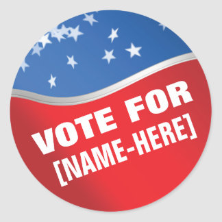 Vote For - custom campaign election sticker