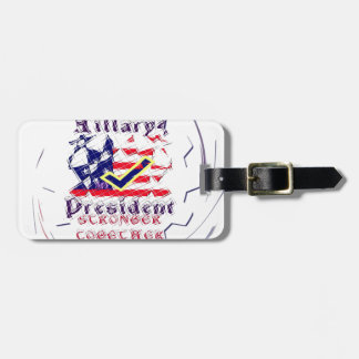 Vote for Hillary USA Stronger Together  My Preside Bag Tag